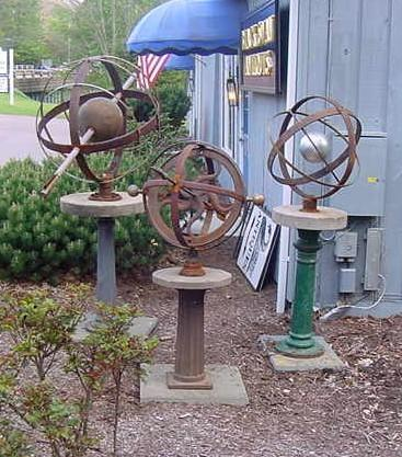 Trio of Armillary Spheres by Gary Hume