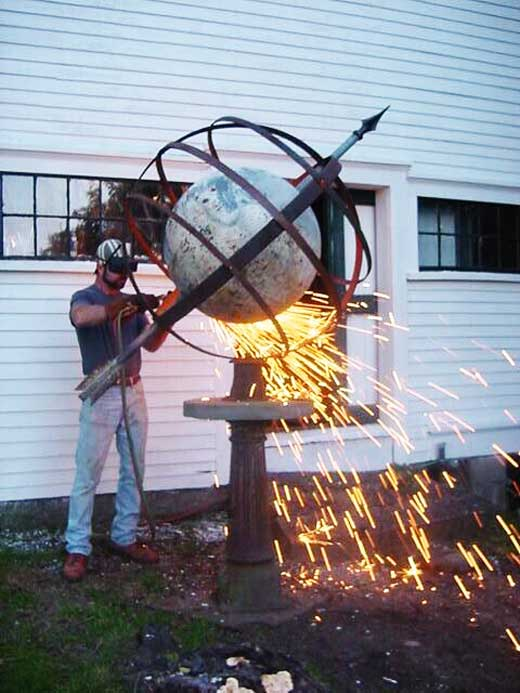 Gary Hume Designs, Metal Art, Garden Sculptures, Armillary Spheres