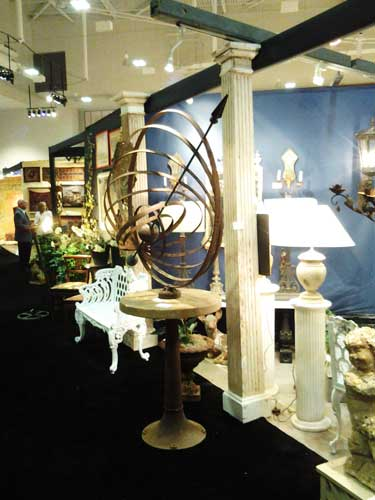 Armillary sculpture from past Nashville Antiques and Garden Show