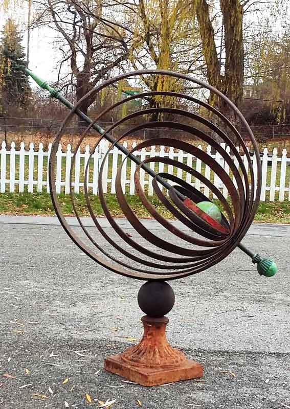 Sculptural Spheres Crazy Wonderful: Armillary Spheres, Garden Decor, Metal Art, Sundial